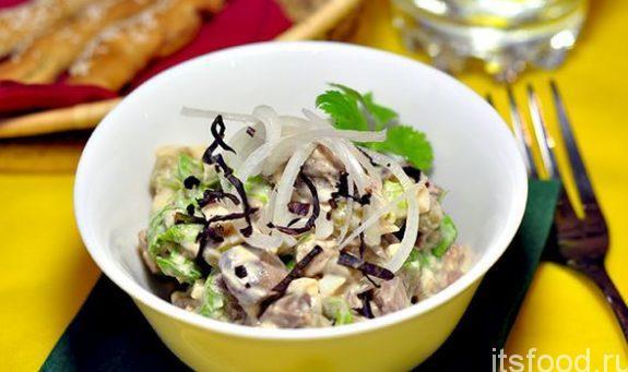 Вкусный салат из куриной печени - рецепт с фото