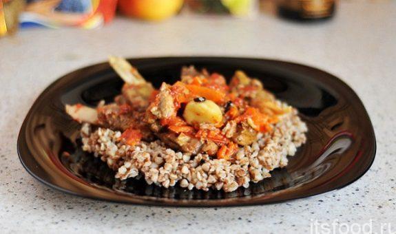 Баранина тушеная с овощами - рецепт