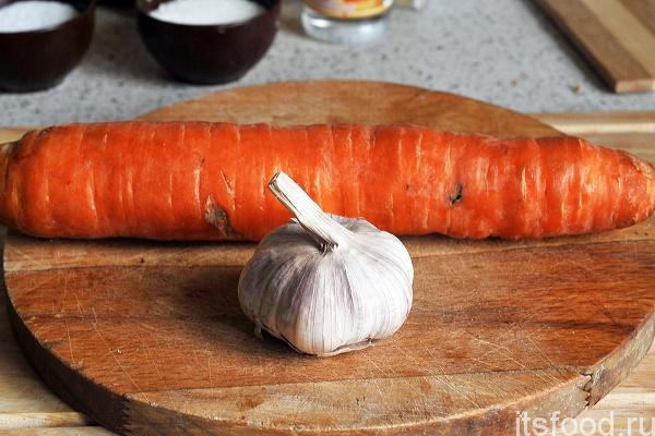 Морковь с майонезом и чесноком рецепт с пошагово