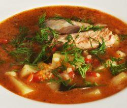 Рыбный суп из лосося