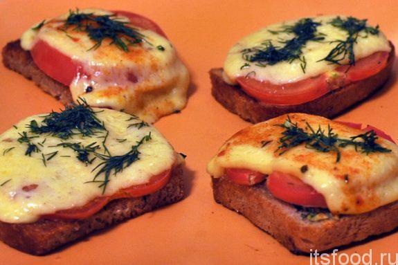 Вкусные горячие бутерброды с сыром