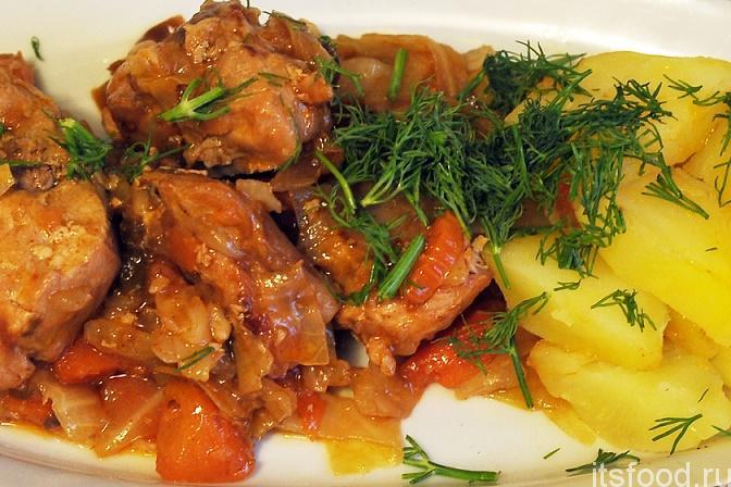 Кролик тушеный с капустой рецепт с фото