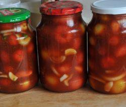 Помидоры в томатной заливке на зиму