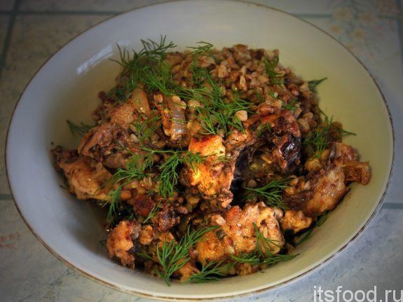Как приготовить гречку с курицей