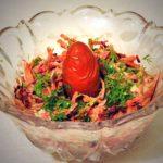 Салат из зеленой редьки – рецепт