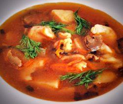 Грибной суп на курином бульоне – рецепт