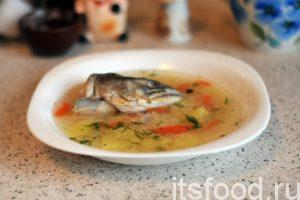 Рыбный суп из горбуши с пшеном по мотивам уральской и волжской казачьей кухни начала XIX века готов. Разливаем его по глубоким тарелкам, украшаем нарезкой укропа и подаем на стол.