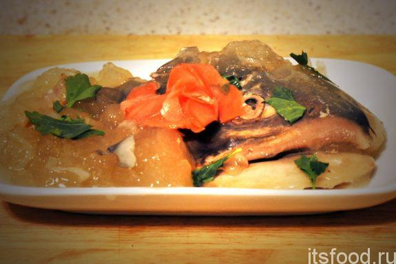 Заливная рыба - рецепт с фото