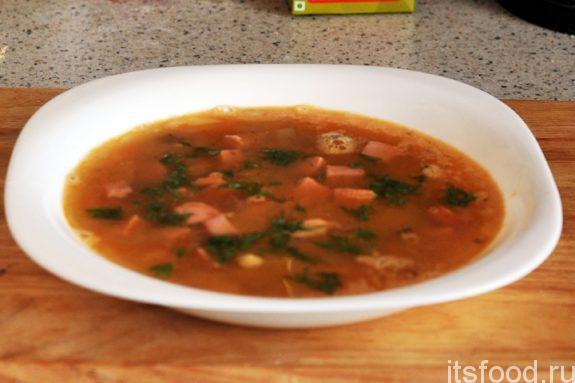 Гороховый суп с копченостями – рецепт с фото