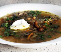 Щи из квашеной капусты с грибами – рецепт