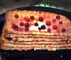 Торт из вафельных коржей – рецепт