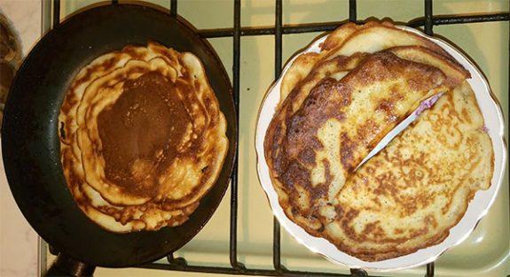 блины на кефире рецепт с фото пошагово с дырочками