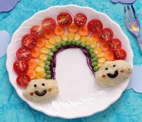 7 примеров забавного оформления завтрака для детей