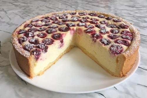 вишневый пирог с творогом