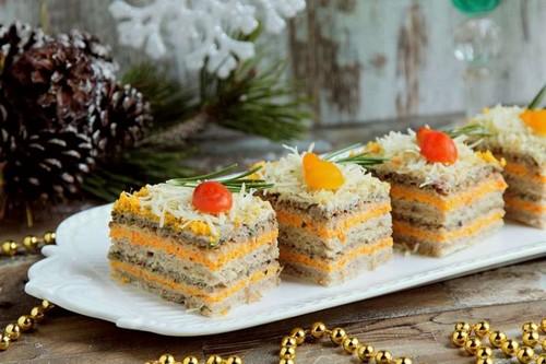 Закусочные пирожные к новогоднему столу на год Быка: 4 интересных рецепта